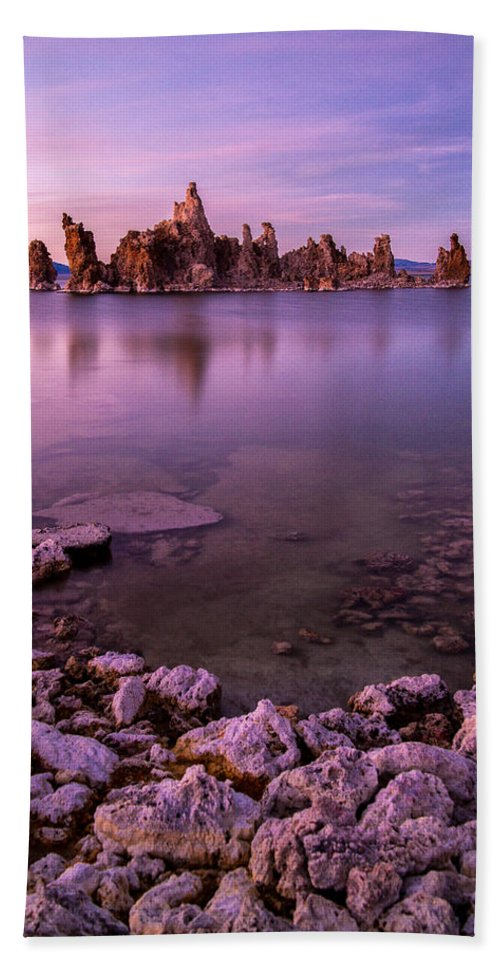 Mono Lake Hand Towel featuring the photograph And That's When It All Got Weird. by Wasim Muklashy