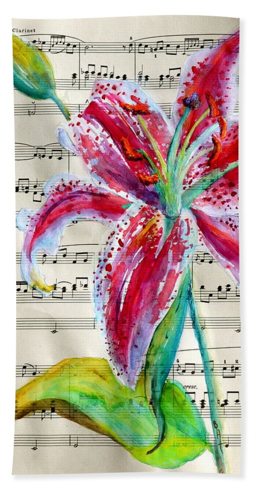 Andante Cantabile Romance Hand Towel featuring the painting Andante Cantabile Romance Page 64 by Beverley Harper Tinsley