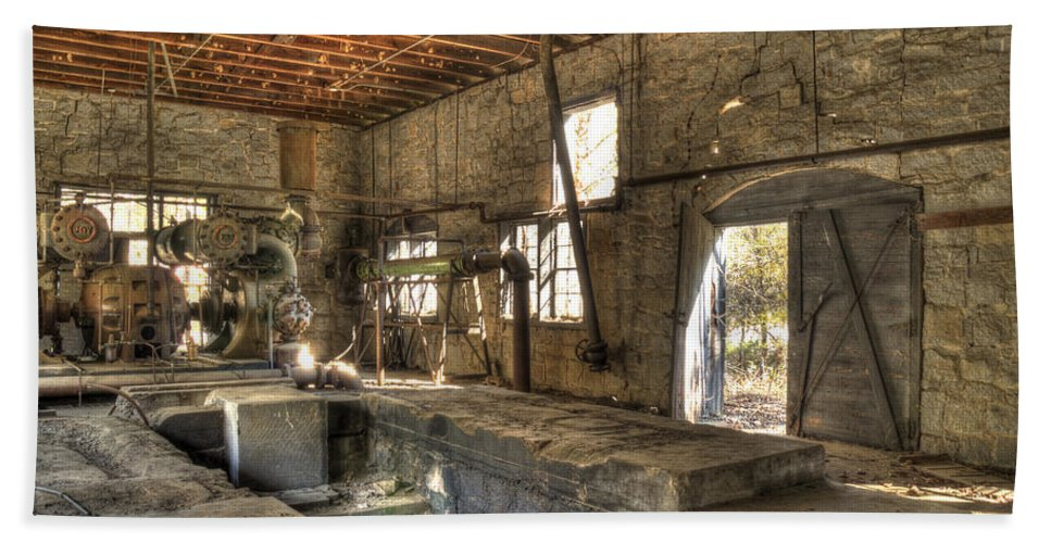 Quarry Hand Towel featuring the photograph Anderson Quarry-2 by Charles Hite