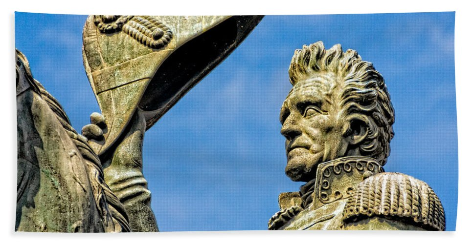 Andrew Jackson Hand Towel featuring the photograph Andrew Jackson by Christopher Holmes