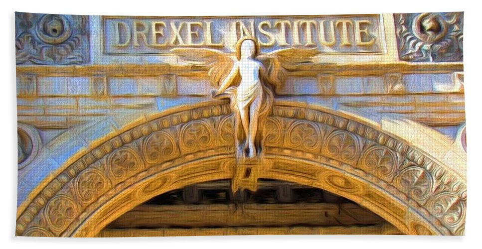 Drexel Institute Bath Sheet featuring the photograph Angel In Drexel by Alice Gipson