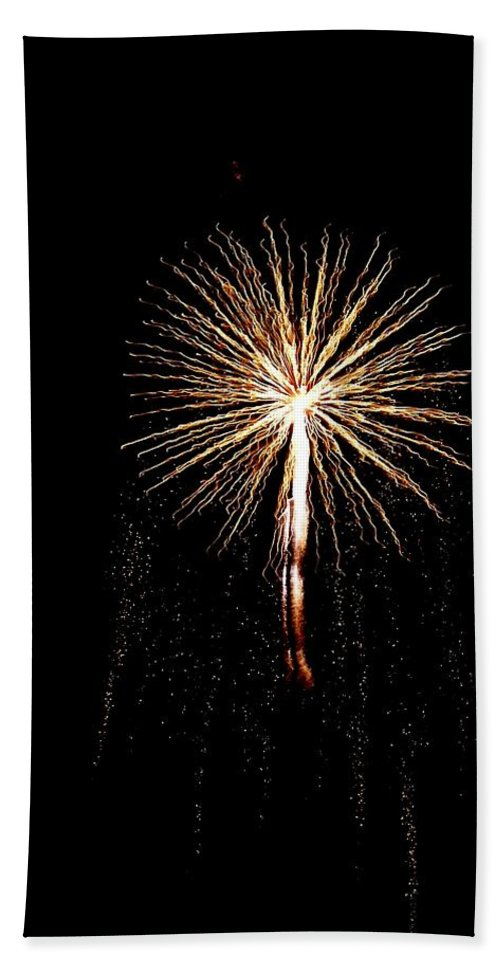 Firework Hand Towel featuring the photograph Angel by Katie Beougher