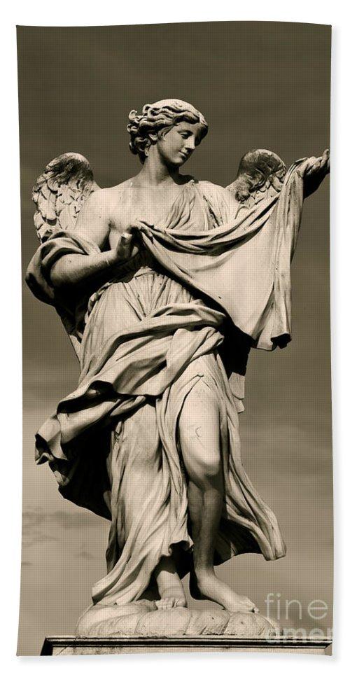 Angel Bath Sheet featuring the photograph Angel Statue by Brian Jannsen