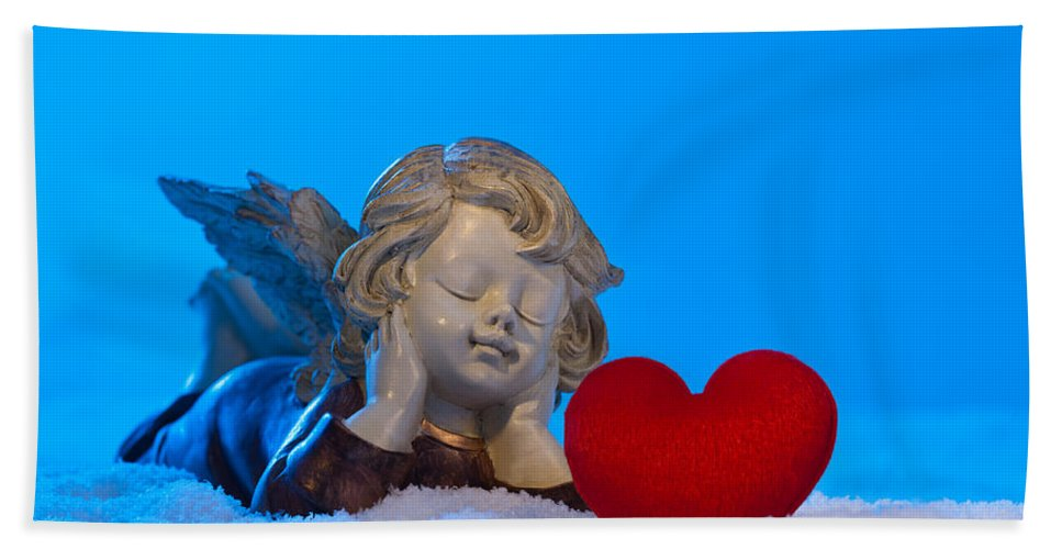Adorable Hand Towel featuring the photograph Angel by U Schade