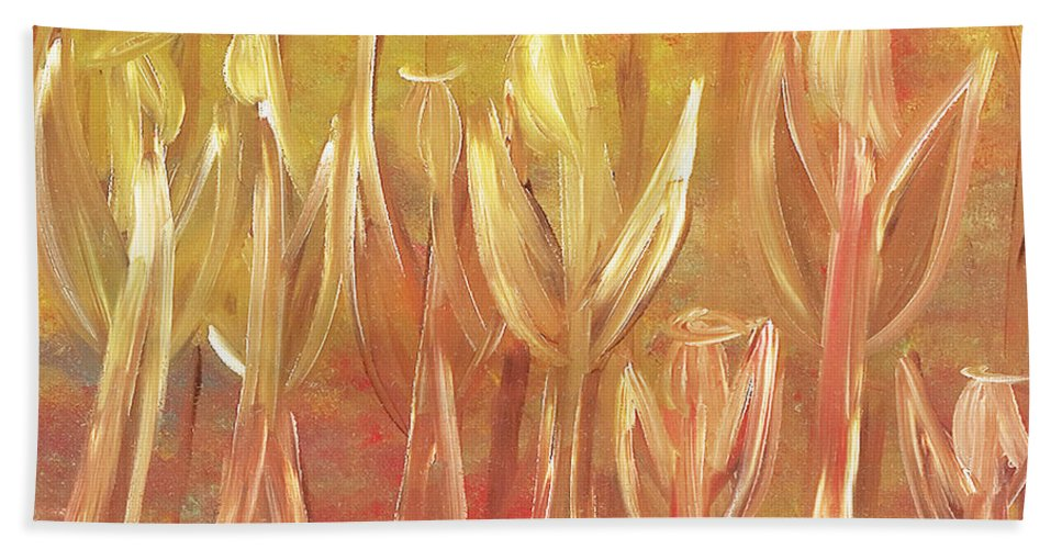 Angels Hand Towel featuring the painting Angelic Symphony by Jessica Rosen