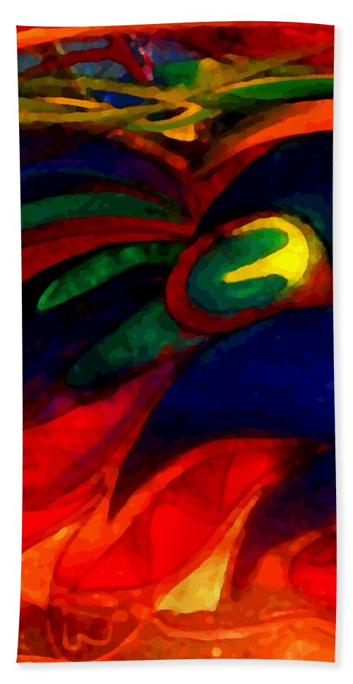 Acrylic Painting Hand Towel featuring the painting Angels 2 by Marcello Cicchini