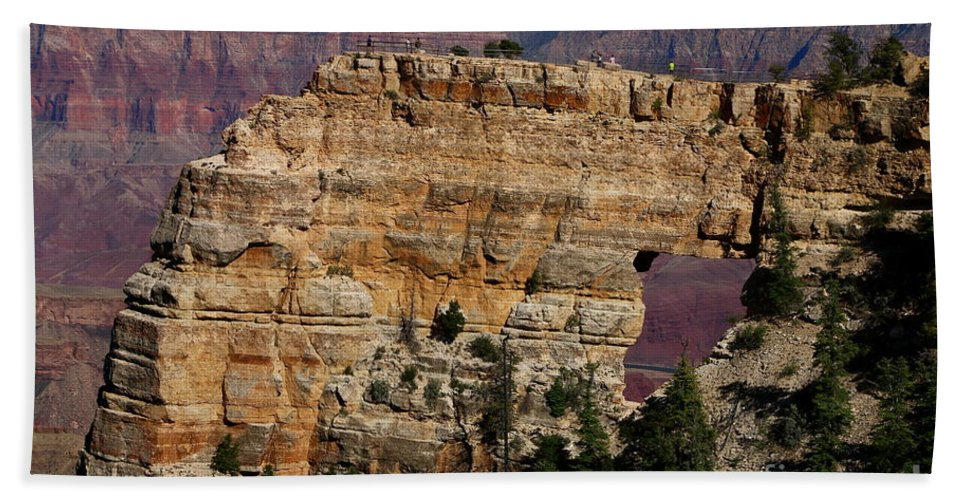 Cape Final Hand Towel featuring the photograph Angel's Window At Cape Royal Grand Canyon by Christiane Schulze Art And Photography