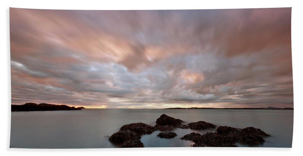 Rhosneigr Hand Towel featuring the photograph Anglesey Sunset by Beverly Cash