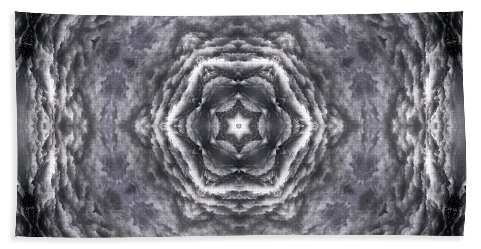 Hand Towel featuring the photograph Angry Clouds Mandala3 by Lee Santa