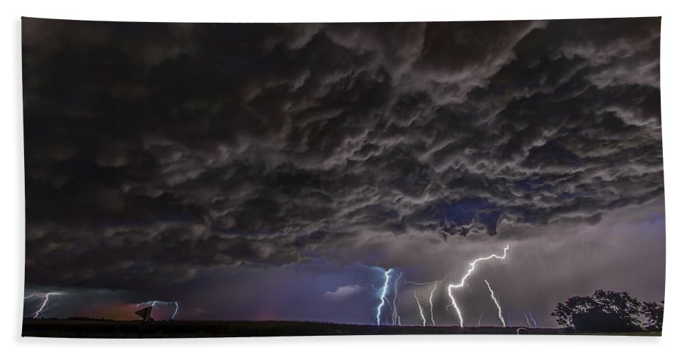 Lightning Bath Sheet featuring the photograph Angry Skies by Paul Brooks