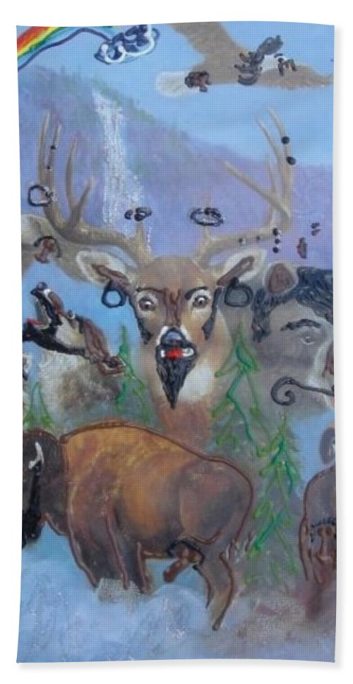 Dear Hand Towel featuring the painting Animal Equality by Lisa Piper