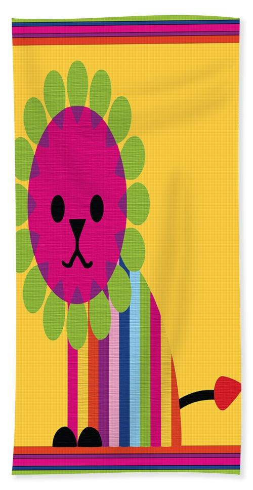 Animal Bath Sheet featuring the digital art Animal Series 7 by Angelina Vick