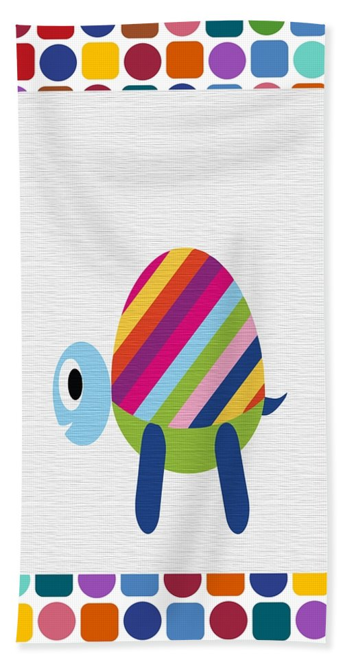 Animal Hand Towel featuring the digital art Animals Whimsical 2 by Angelina Vick