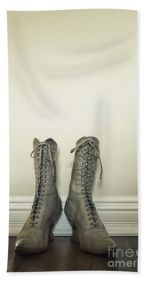 Boots Bath Sheet featuring the photograph Ankle Boots by Margie Hurwich