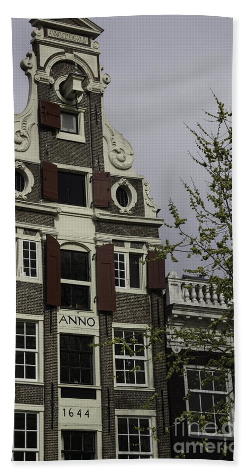 2014 Hand Towel featuring the photograph Anno 1644 Amsterdam by Teresa Mucha
