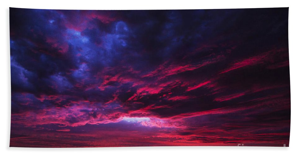Sunset Hand Towel featuring the photograph Anomaly by Andrew Paranavitana