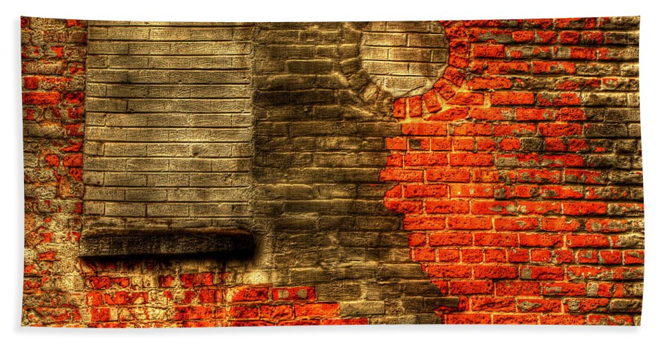 Wall Bath Sheet featuring the photograph Another Brick In The Wall by Thomas Young