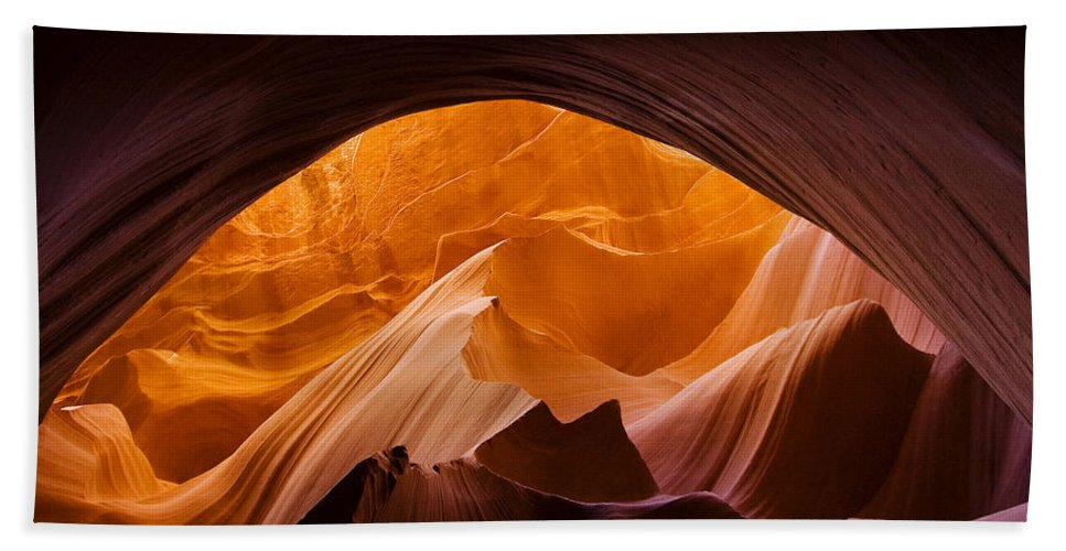 Antelope Hand Towel featuring the photograph Antelope Canyon 11 by Ingrid Smith-Johnsen