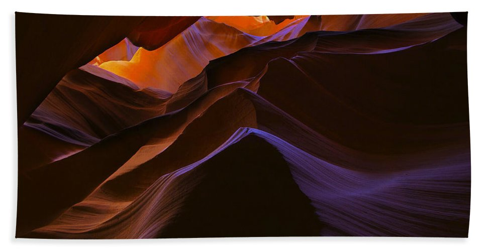Antelope Hand Towel featuring the photograph Antelope Canyon 23 by Ingrid Smith-Johnsen