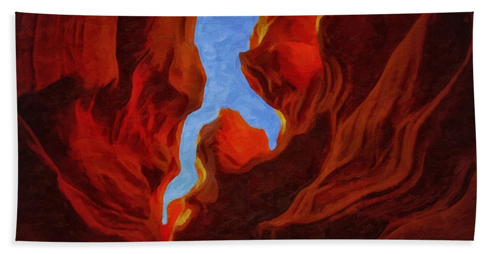 Antelope Hand Towel featuring the photograph Antelope Canyon 30 by Ingrid Smith-Johnsen