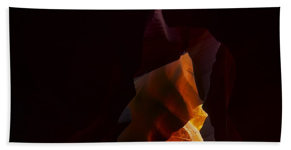 Antelope Hand Towel featuring the photograph Antelope Canyon 28 by Ingrid Smith-Johnsen