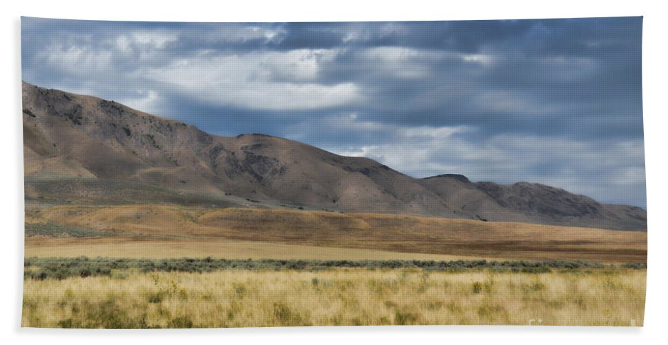 Antelope Island Hand Towel featuring the photograph Antelope Island Camera Flats by Donna Greene