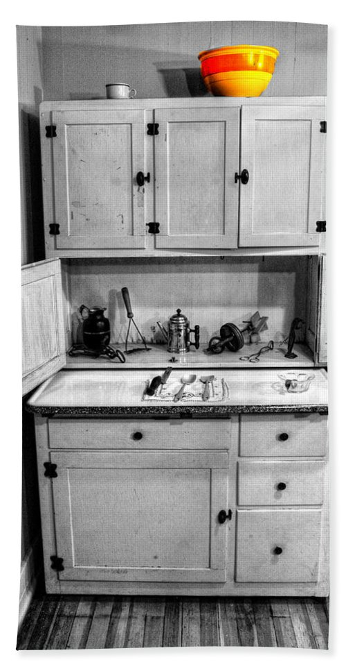 Cupboard Bath Sheet featuring the photograph Antique Cupboard by Dave Mills