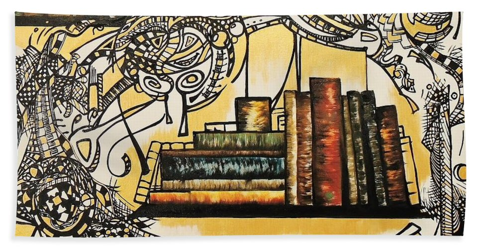 Books Hand Towel featuring the painting Antique by Ivan Zanon