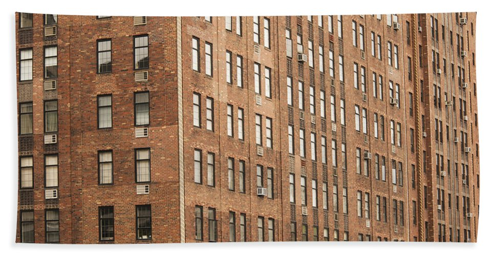 New York City Cityscape Cityscapes Cities Architecture Apartments Apartment Building Residential Buildings Window Windows Structure Structures Bath Sheet featuring the photograph Apartment-apartments-more Apartments by Bob Phillips