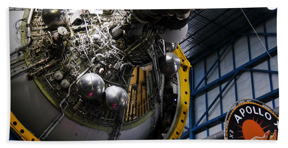Apollo Mission Hand Towel featuring the photograph Apollo Mission Space Craft by David Lee Thompson