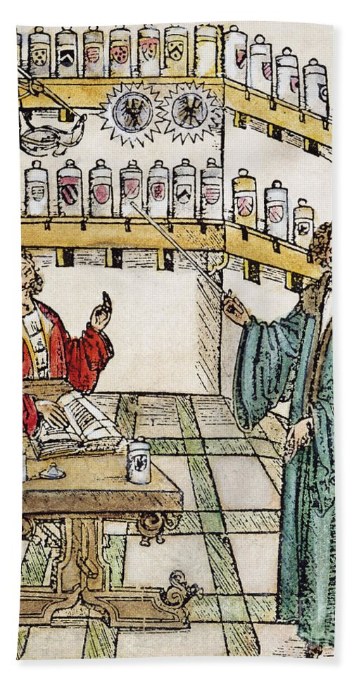 16th Century Bath Sheet featuring the photograph Apothecary Shop, 1500 by Granger