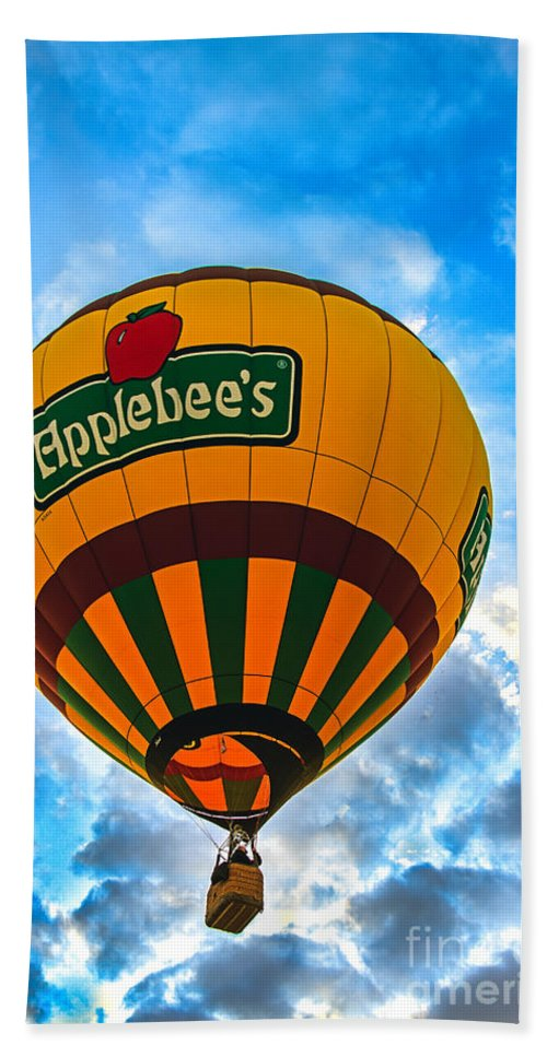 Arizona Hand Towel featuring the photograph Appelbee's Hot Air Balloon by Robert Bales
