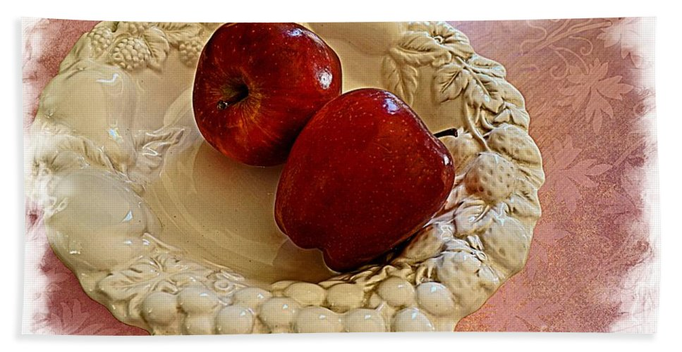 White Hand Towel featuring the photograph Apple Still Life 3 by Debbie Portwood