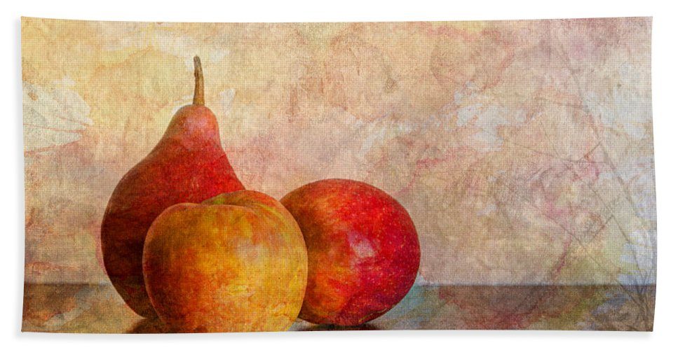 Apple Bath Sheet featuring the photograph Apples And A Pear by Heidi Smith
