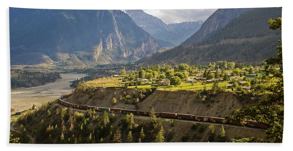 Lillooet Hand Towel featuring the photograph Approaching Lillooet by Doug Matthews