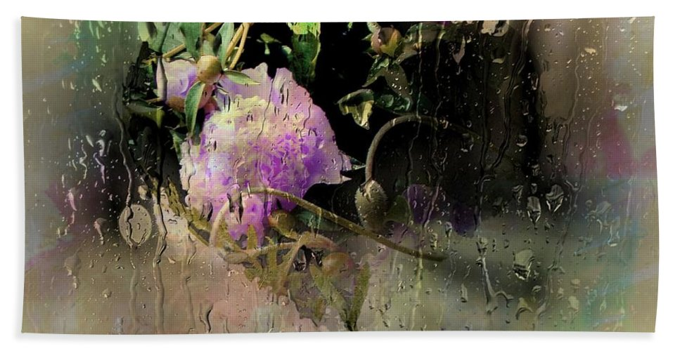 Spring Hand Towel featuring the photograph April Showers by Ellen Cannon