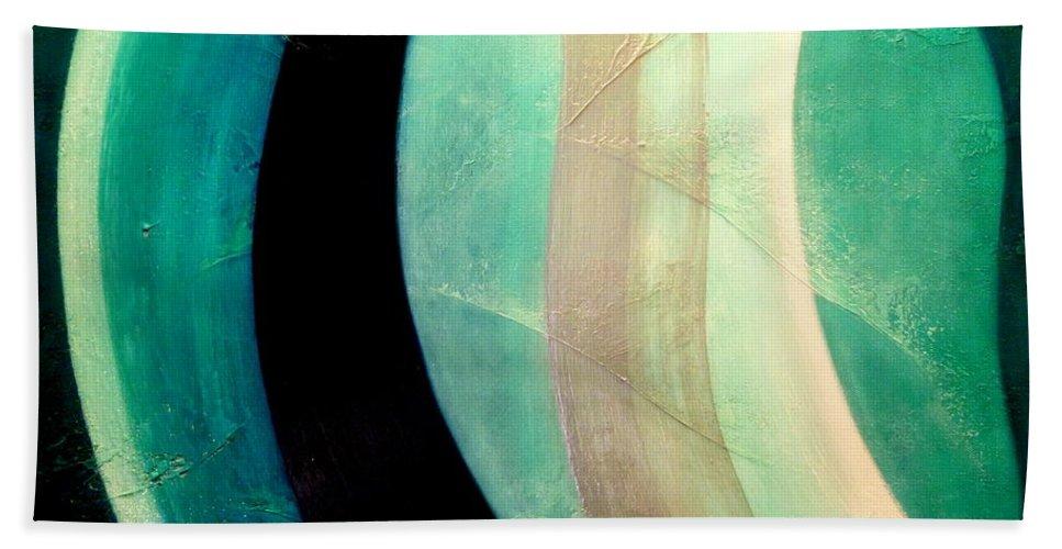 Aqua.ocean.light.energy White Bath Sheet featuring the painting Blue Moon by Kumiko Mayer