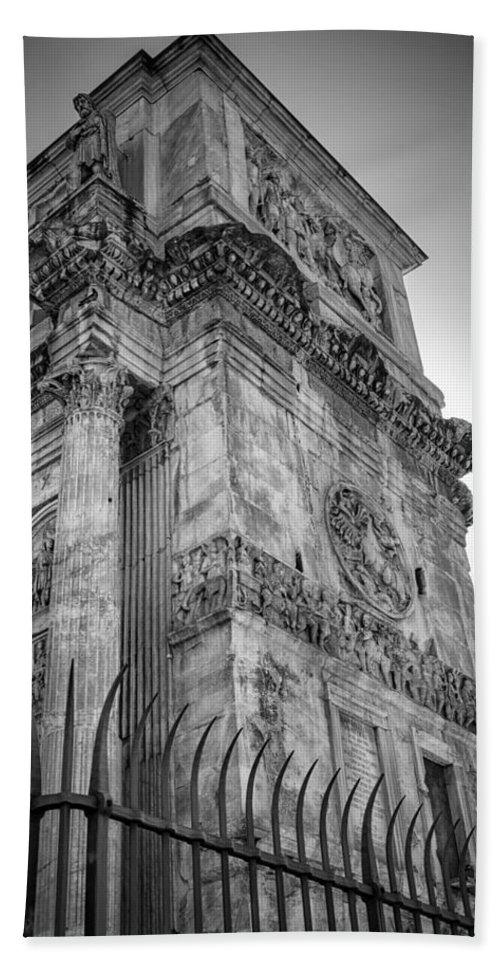 Joan Carroll Hand Towel featuring the photograph Arch Of Constantine by Joan Carroll