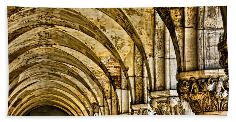 Venice Italy Bath Sheet featuring the photograph Arches At St Marks - Venice by Jon Berghoff