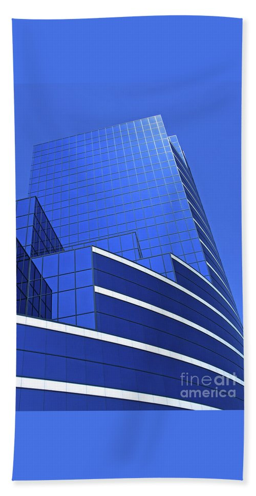 Architecture Bath Towel featuring the photograph Architectural Blues by Ann Horn