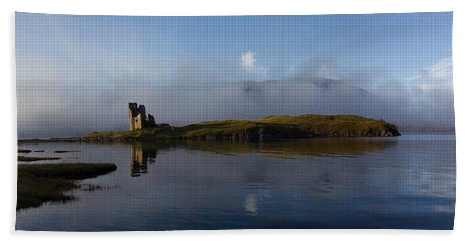 Ancient Hand Towel featuring the photograph Ardvreck Castle by Derek Beattie