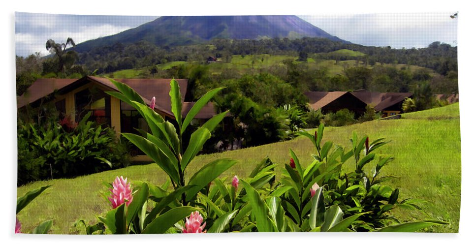 Tropical Hand Towel featuring the photograph Arenal Costa Rica by Kurt Van Wagner