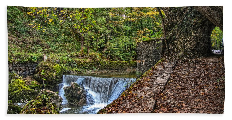 Switzerland Hand Towel featuring the photograph Areuse Gorge by Hanny Heim