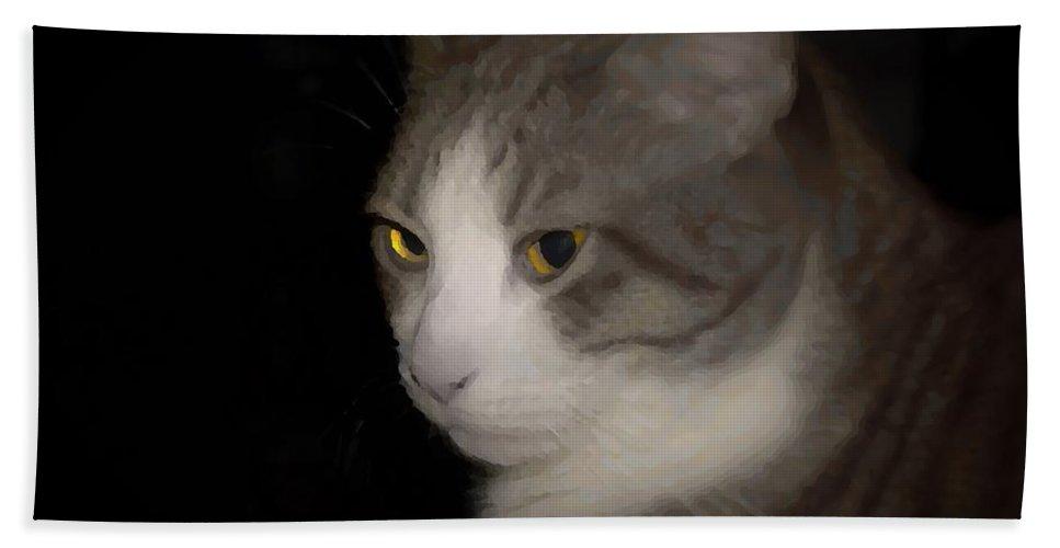 Cat Bath Sheet featuring the photograph Aries by Stefanie Beauregard