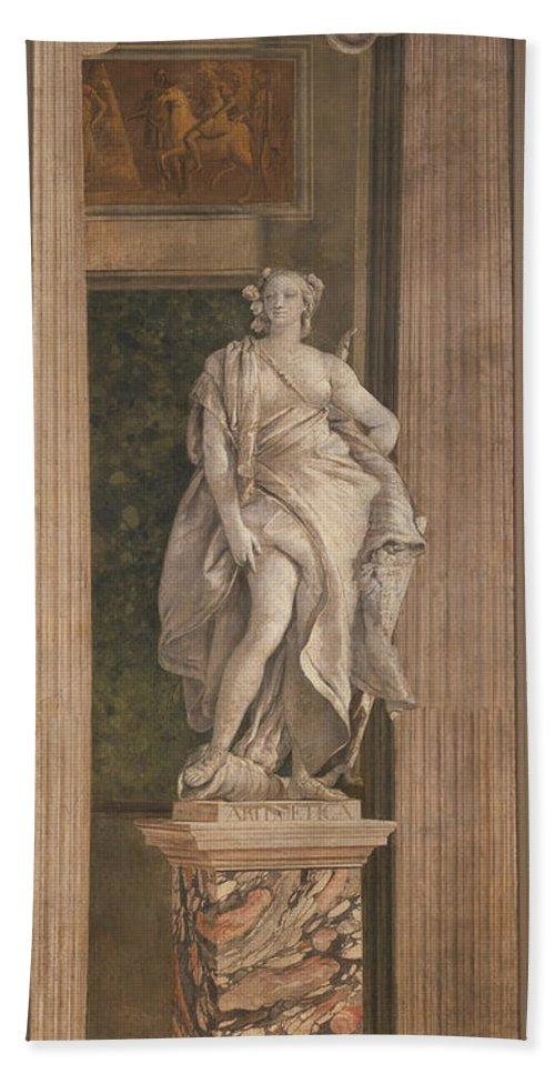 Giovanni Battista Tiepolo Bath Sheet featuring the painting Arithmetic by Giovanni Battista Tiepolo