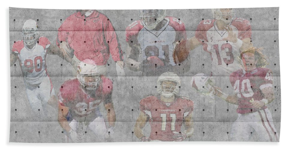 Cardinals Bath Sheet featuring the photograph Arizona Cardinals Legends by Joe Hamilton