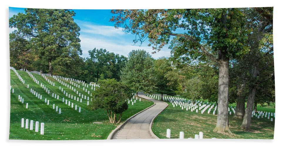 Cemetery Hand Towel featuring the photograph Arlington National Cemetery Part 2 by Alex Hiemstra