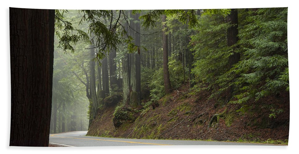 California Bath Towel featuring the photograph Around The Bend by Dustin LeFevre