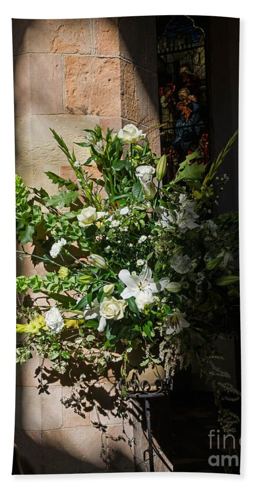 Fresh Hand Towel featuring the photograph Arrangement Of White Flowers by Louise Heusinkveld