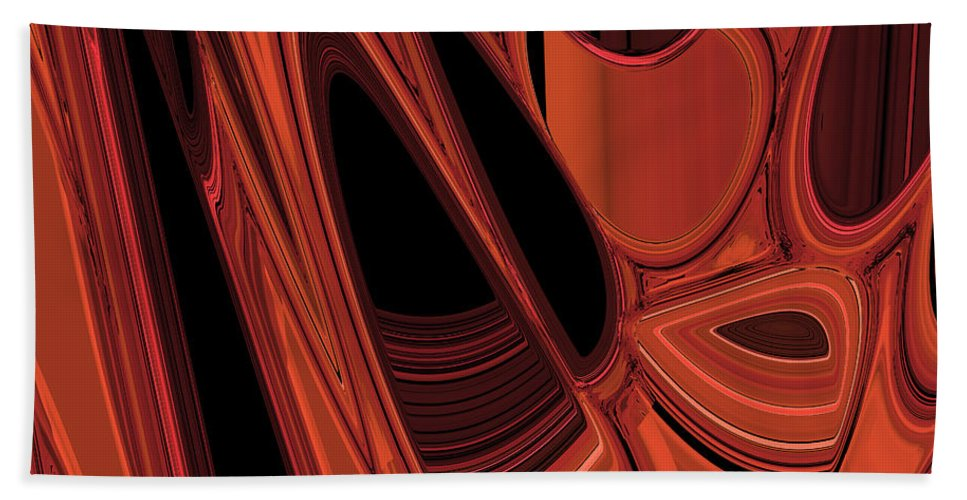 Abstract Bath Sheet featuring the digital art Arroyo 1 by Judi Suni Hall